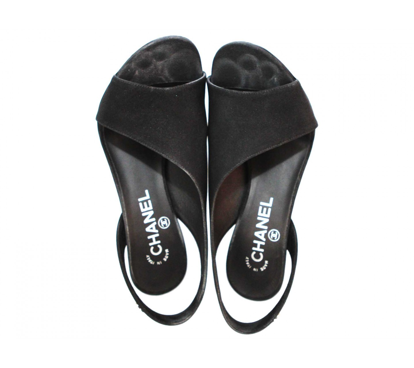Black sandals chanel