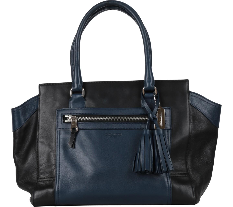 Dark Blue And Black Tassels Tote Bag