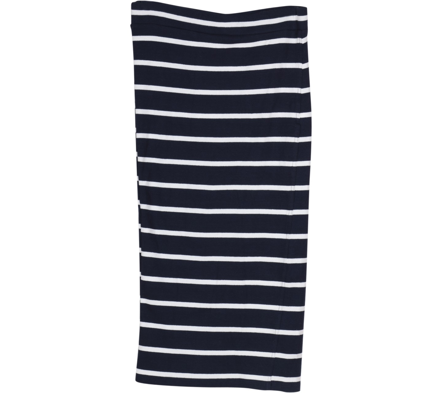 Dark Blue And White Striped Skirt