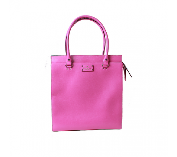 Kate Spade Pink Leather Tote Bag
