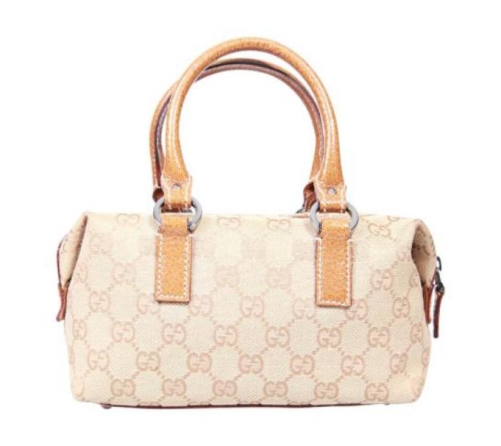 Gucci Brown Micro Monogram Tote Bag
