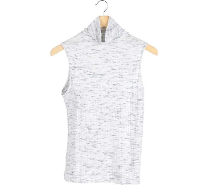 H&M Grey Turtle Neck Sleeveless
