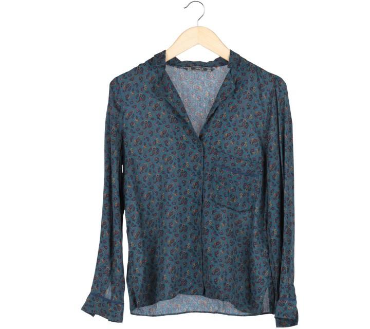 Zara Green Paisley Shirt