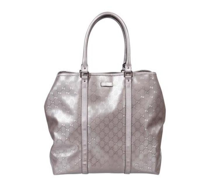 Gucci Silver Imprime Guccissima Tote Bag