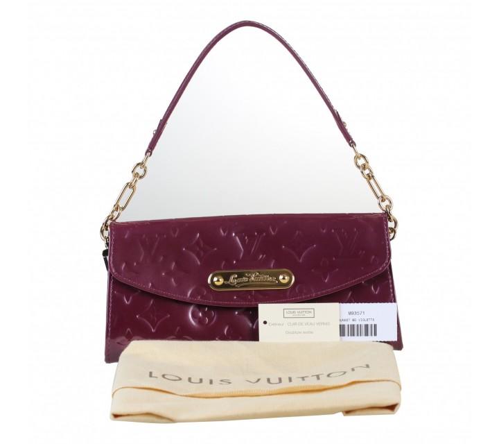 Louis Vuitton Purple Vernis Sunset Boulevard Wallette