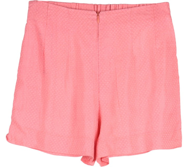 Cotton Ink Pink Textured Short Pants