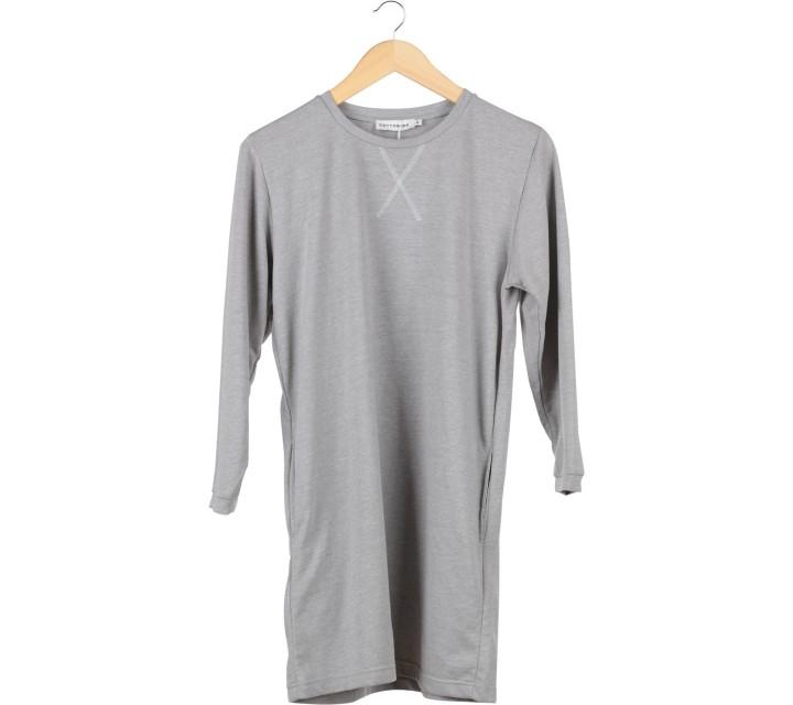Cotton Ink Grey Mini Dress