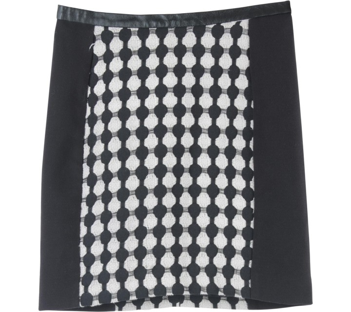 H&M Black And Cream Skirt
