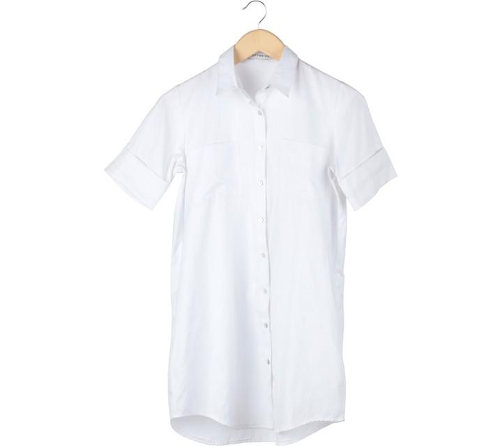 Cotton Ink White Pocket Mini Dress