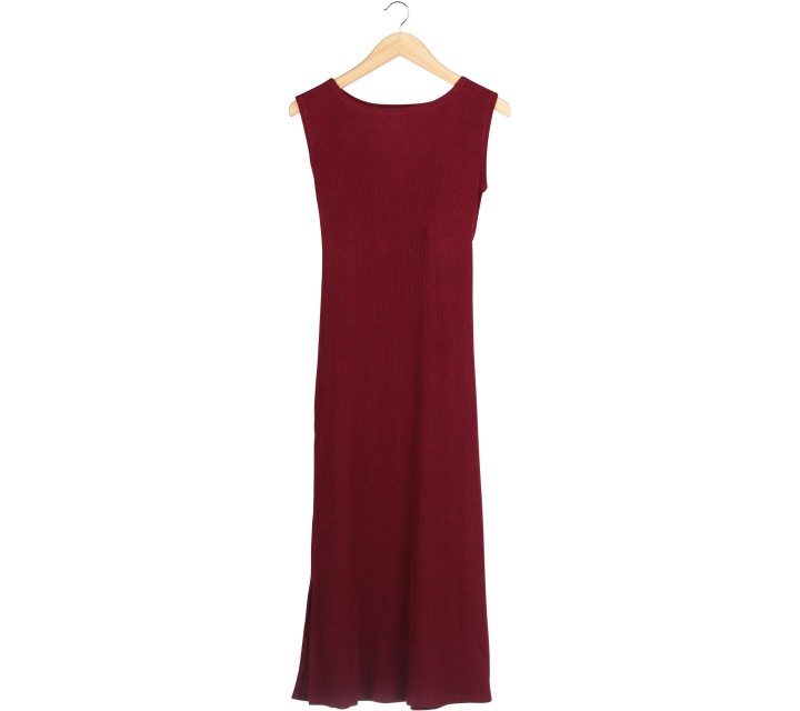 Pomelo. Maroon Midi Dress