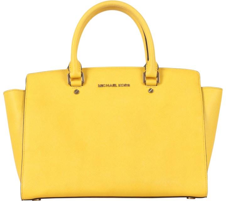 Michael Kors Yellow Selma Tote Bag