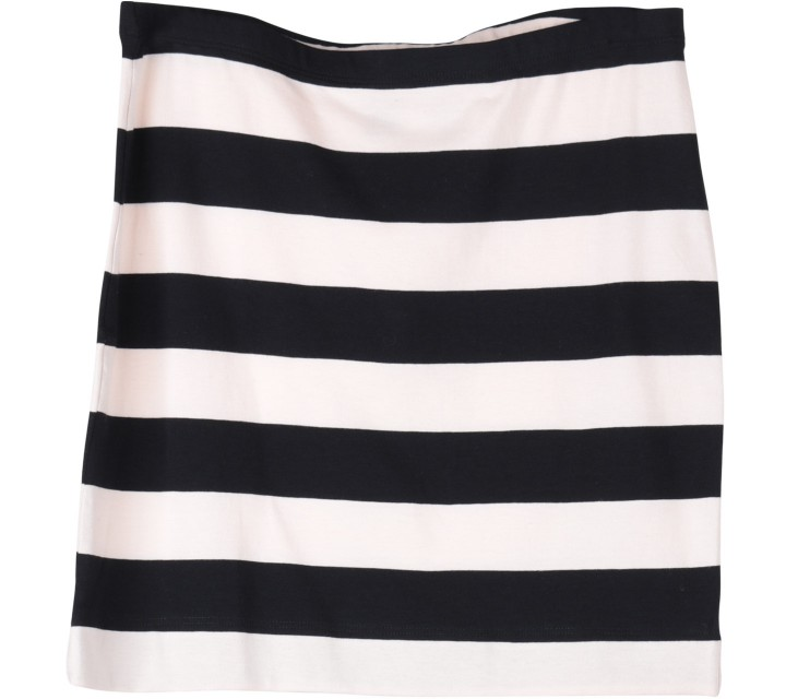 H&M Black And Cream Striped Skirt