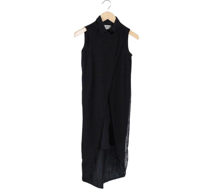 (X)SML Black Layered Midi Dress