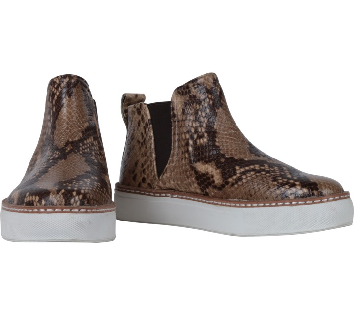 Zara Brown Snakeskin Boots