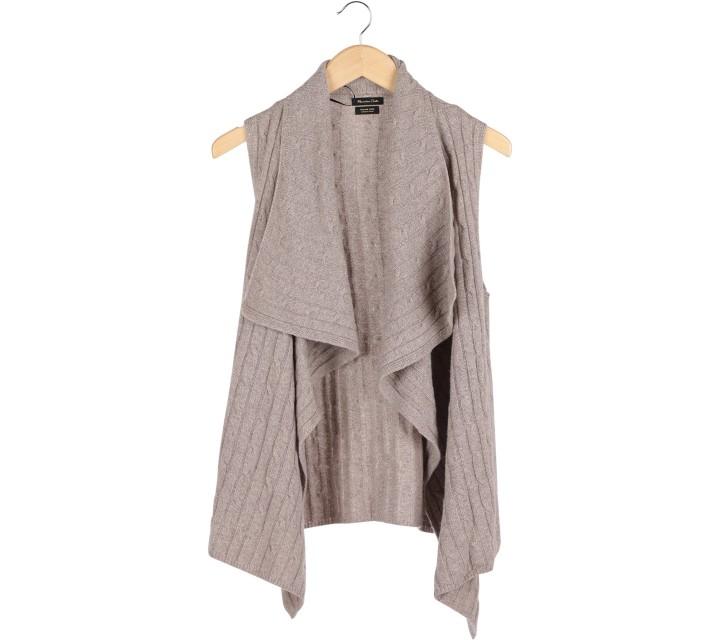 Massimo Dutti Brown Knit Vest