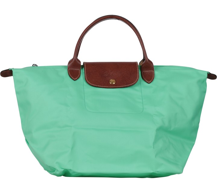 Longchamp Light Green Le Pliage Medium Handbag
