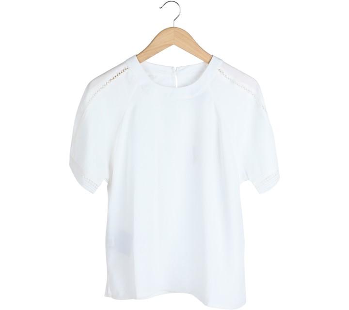 Cotton Ink White Sheer Insert Blouse
