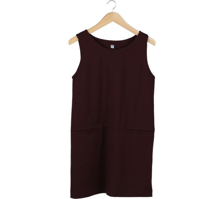 UNIQLO Maroon Sleeveless Mini Dress
