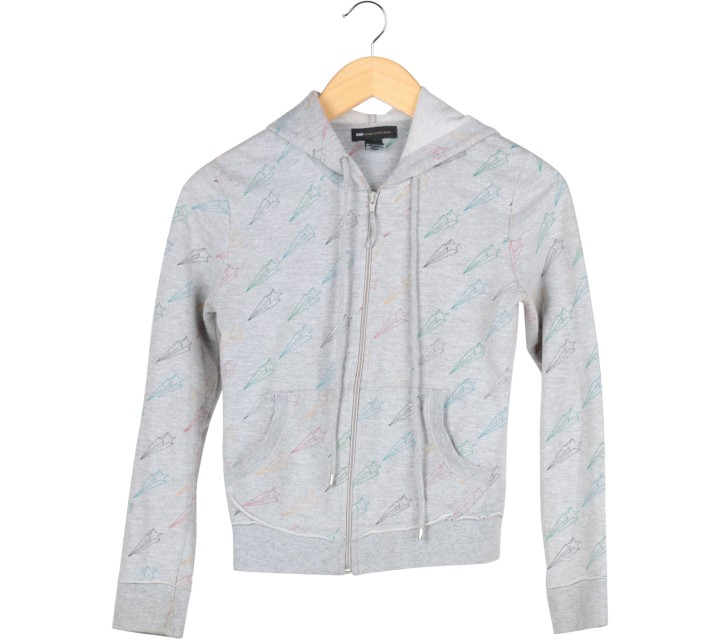 Mango Grey Star Pattern Jaket