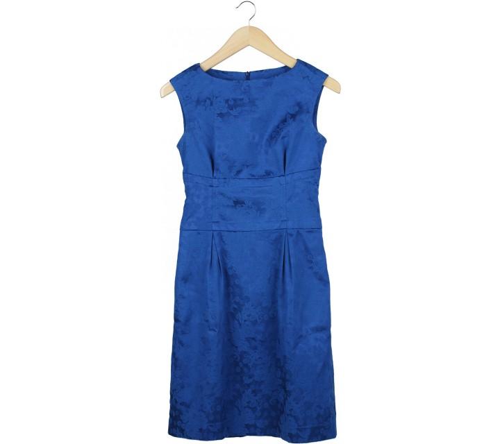 Vesperine Blue Floral Mini Dress
