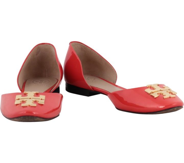 Tory Burch Red Raleigh D´Orsay Ballet Flats