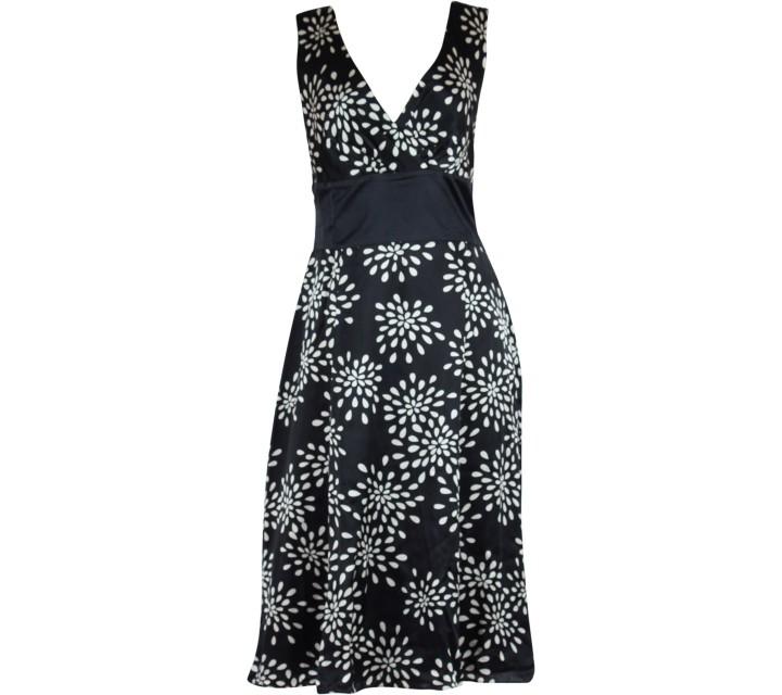 Ted Baker Black And White Midi Dress