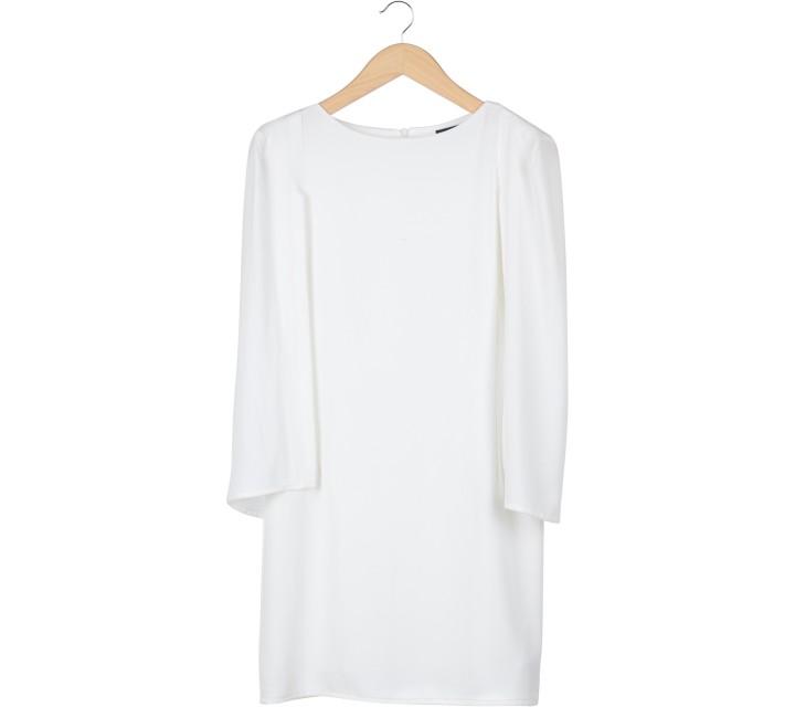 Lookboutiquestore Off White Cape Midi Dress
