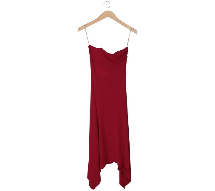 BCBG Red Tube Midi Dress