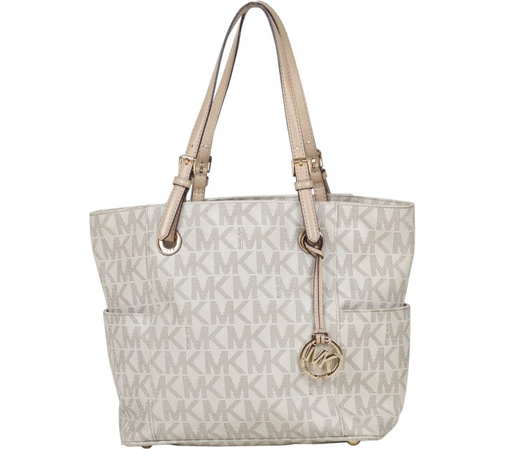Michael Kors Cream Monogram Tote Bag