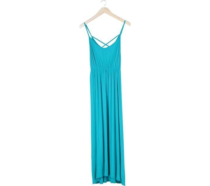 Miss Selfridge Green Long Dress