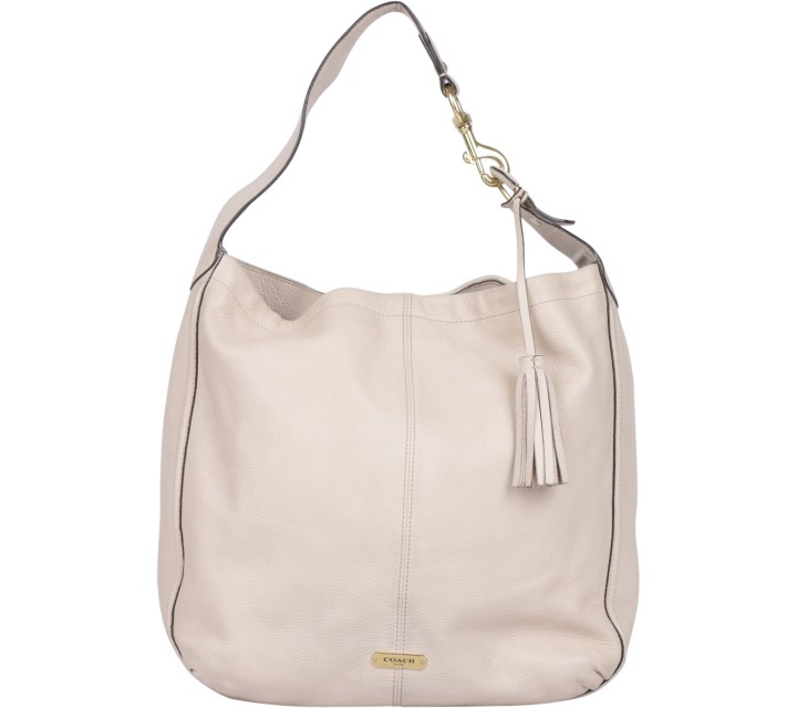 Coach Cream Avery Leather Hobo Shoulder Bag