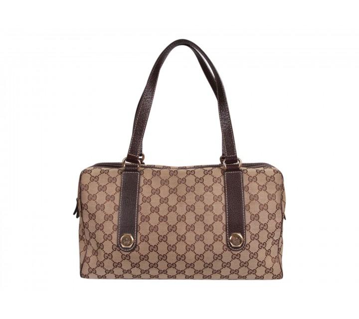 Gucci Brown Monogram Canvas Tote Bag