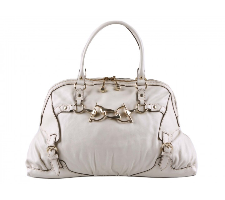 Gucci Off White Horsebit Nail Medium Boston Tote Bag