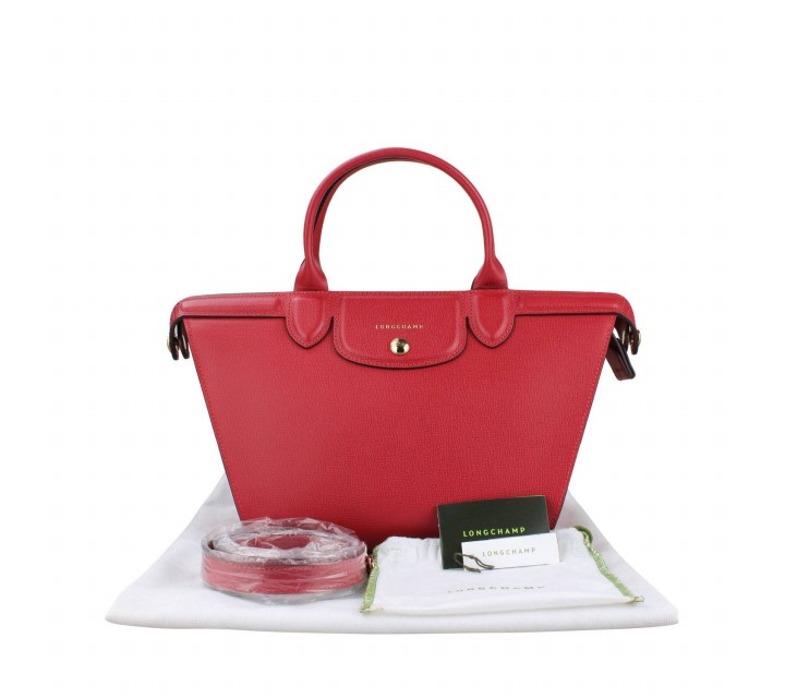 Longchamp Red Tote Bag