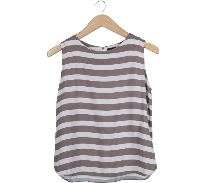 Shop At Velvet Brown And White Sleeveless
