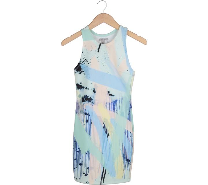 Zara Multi Colour Abstract Mini Dress