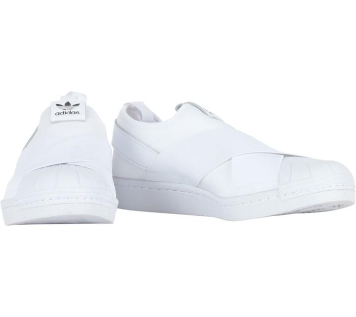 Adidas White Superstar Slip On w Sneakers