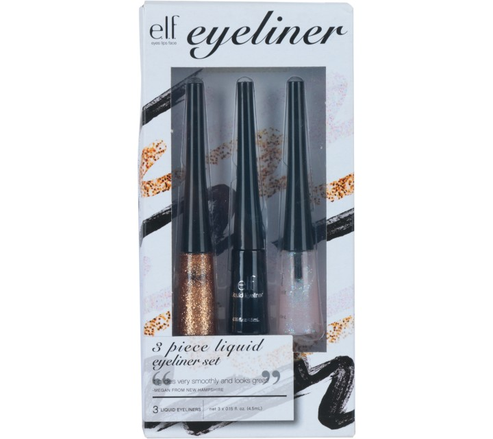 ELF Multi Colour 3 Piece Liquid Eyeliner Set Sets and Palette