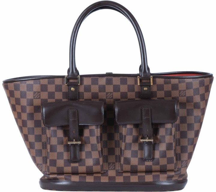 Louis Vuitton Brown Damier Neverfull Handbag