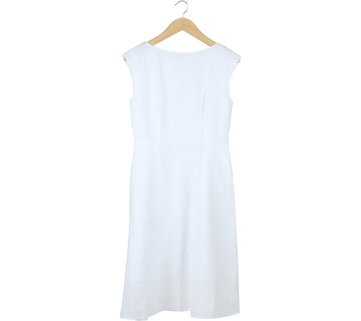 UNIQLO White Midi Dress