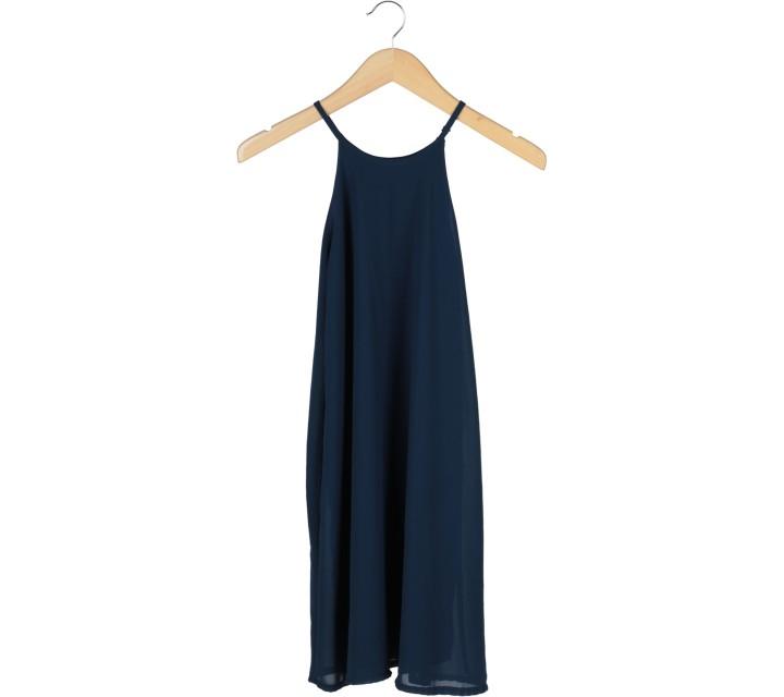 Dark Blue Sleeveless Mini Dress