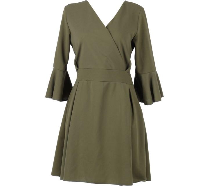Dark Green Tied Mini Dress