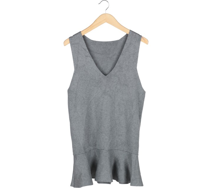 Grey Peplum Mini Dress