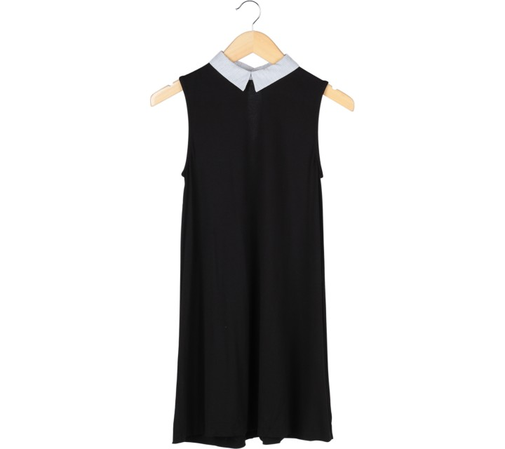 Pull & Bear Black Sleeveless Mini Dress