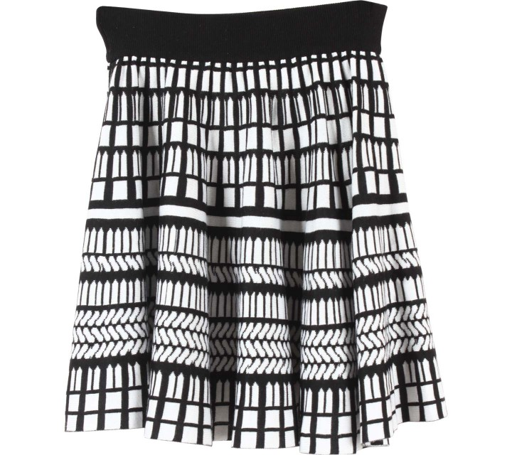 Forever 21 Black And White Patterned  Skirt