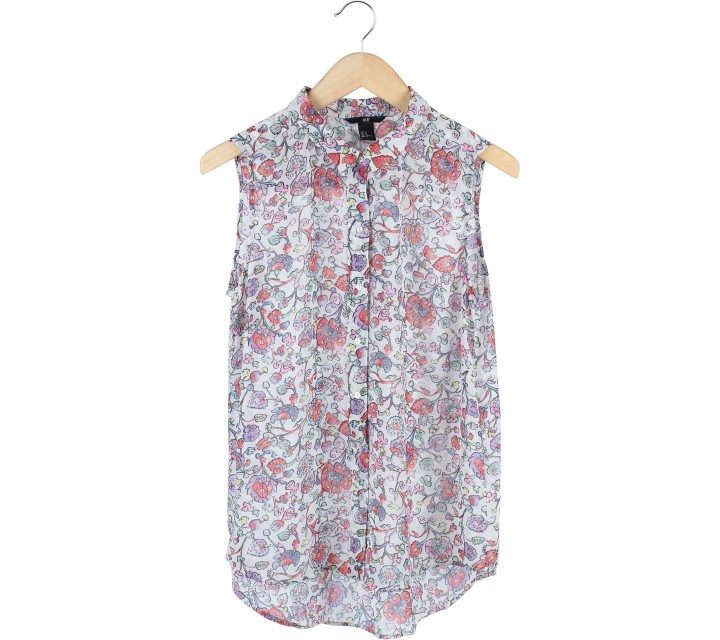 H&M Multi Colour Floral Sleeveless