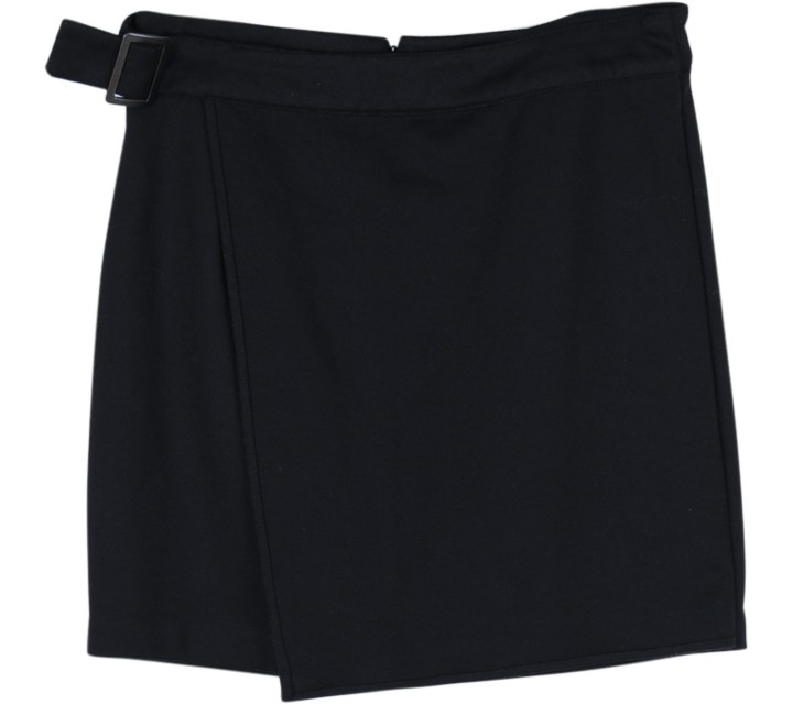 Forever 21 Black Belted Mini Skirt