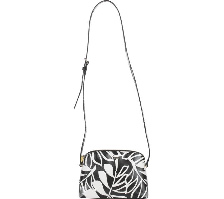 Kate Spade Black And Cream Cedar Street Palms Mandy Sling Bag