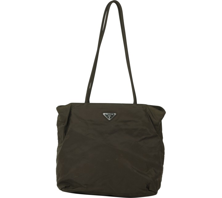 Prada Dark Green Tote Bag