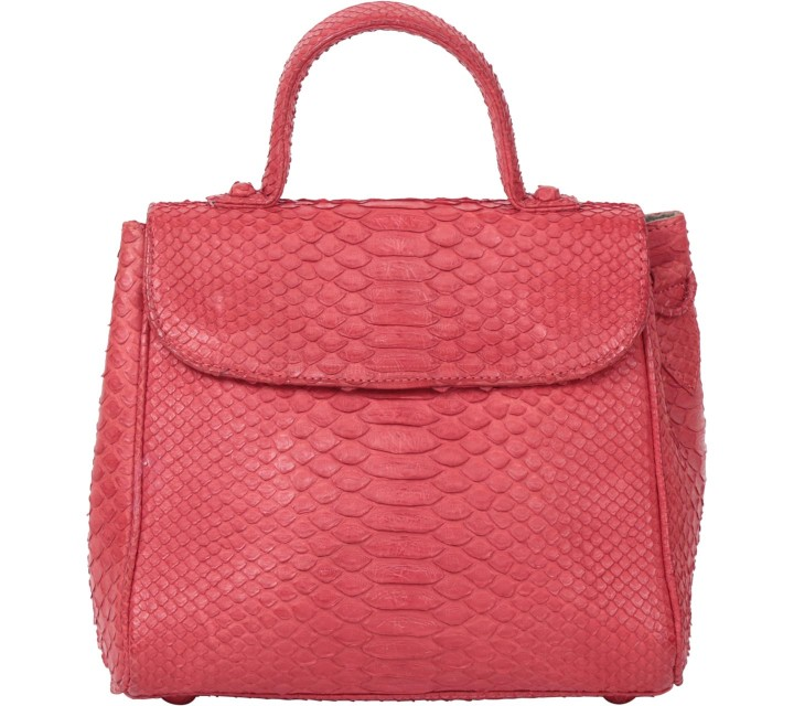 Pla Red Snakeskin Sling Bag
